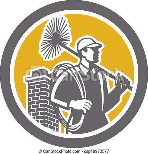 varredor, trabalhador, retro, chaminé - csp19970577