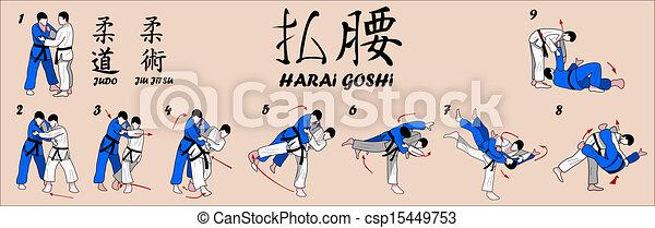 varrendo, quadril, judo, lançamento - csp15449753