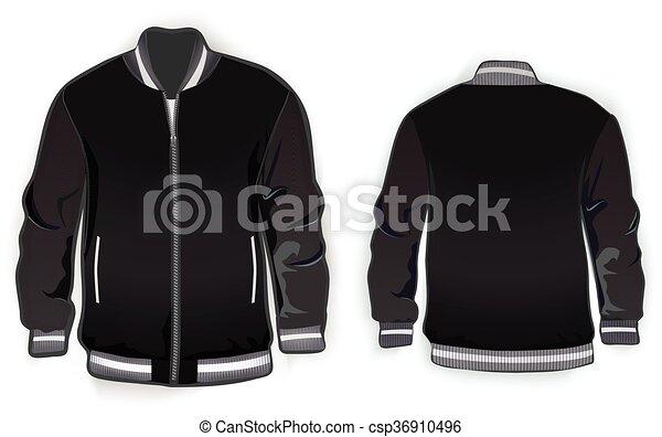 Varsity jacket template. - csp36910496