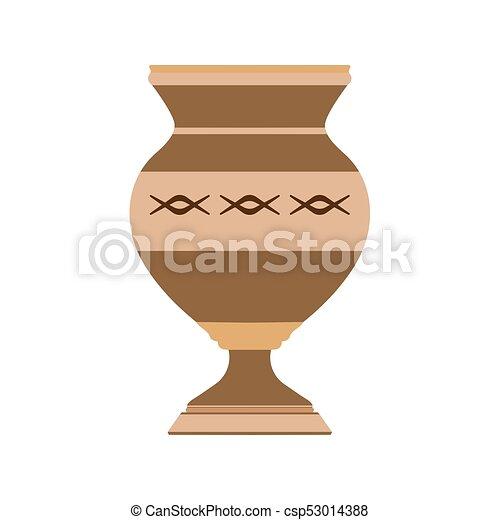 Vase Decorative Flower Illustration Pottery Design Decoration