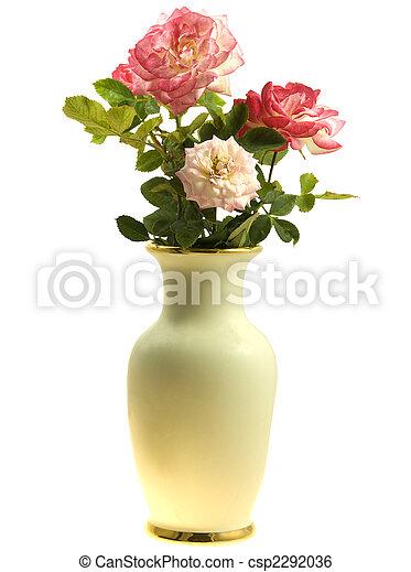 Vase Of Roses Spring Flowers Spring Flowers Vase Of Roses Isolated
