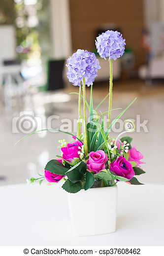 Can Stock Photo & Vases artificial flowers