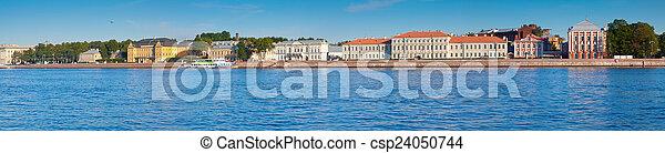 Vasilyevsky Island in summer day - csp24050744