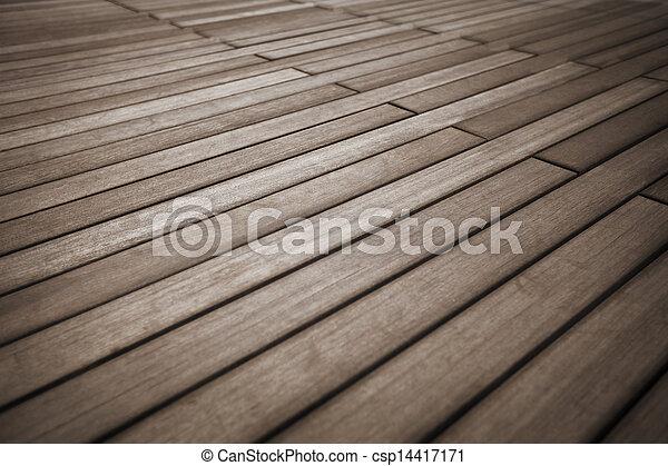 vast lichaam, hout, bevloering - csp14417171