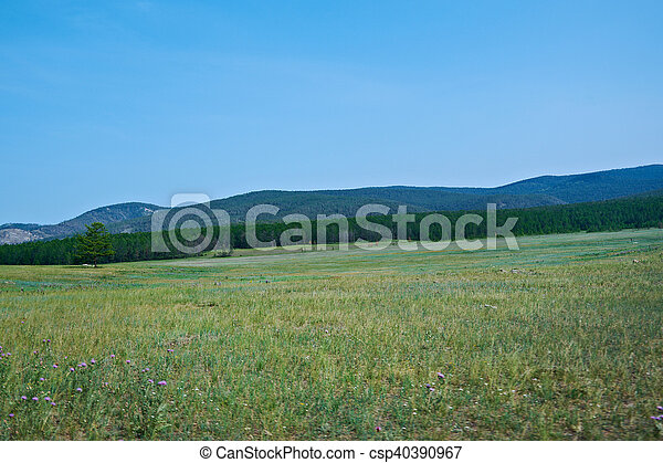 vast steppes Olkhon island - csp40390967