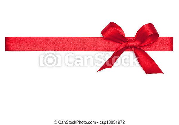 vastknopen, rood lint - csp13051972