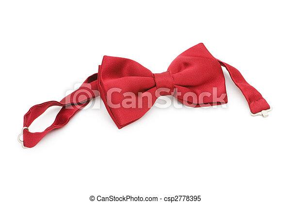 vastknopen, witte , vrijstaand, rode boog - csp2778395