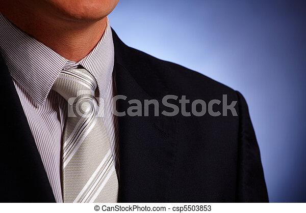 vastknopen, zakenman, close-up, kostuum - csp5503853