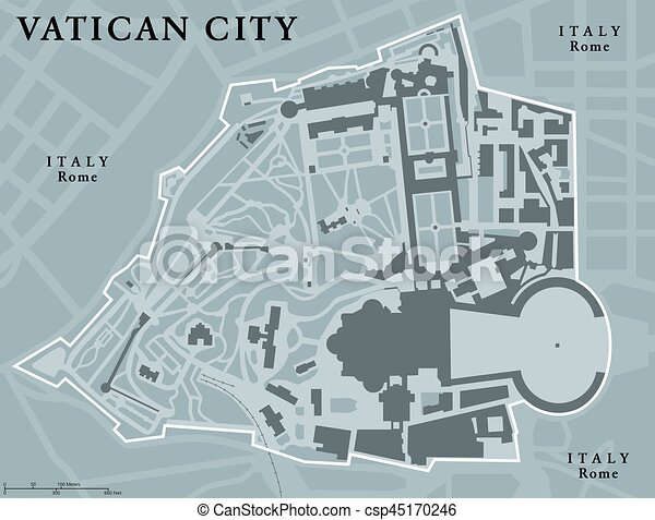 City Map Of Italy In English.Vatican City State Political Map