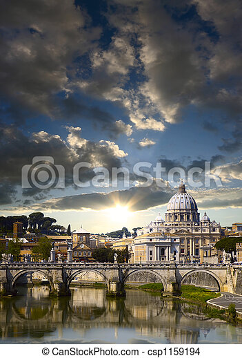 Vatican in the morning - csp1159194