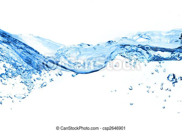 vatten, bubblar, luft - csp2646901