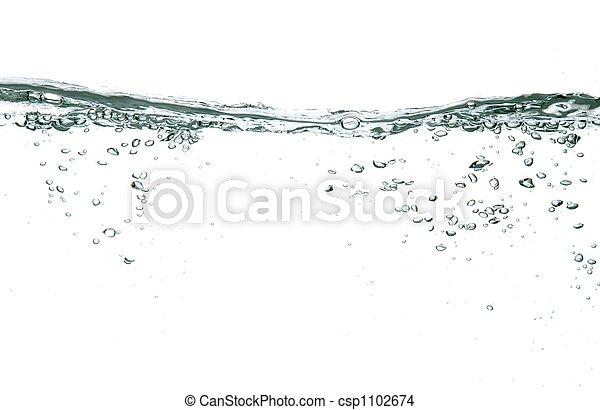 vatten, bubblar - csp1102674