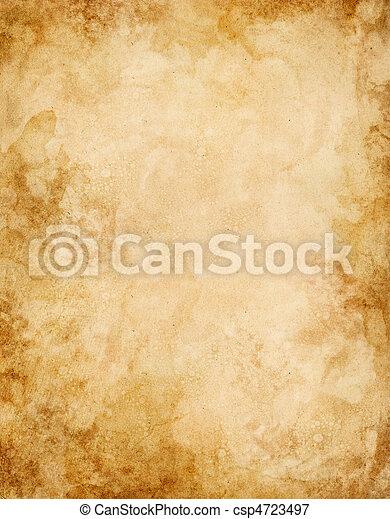 vatten, fläckat, gammal, papper - csp4723497