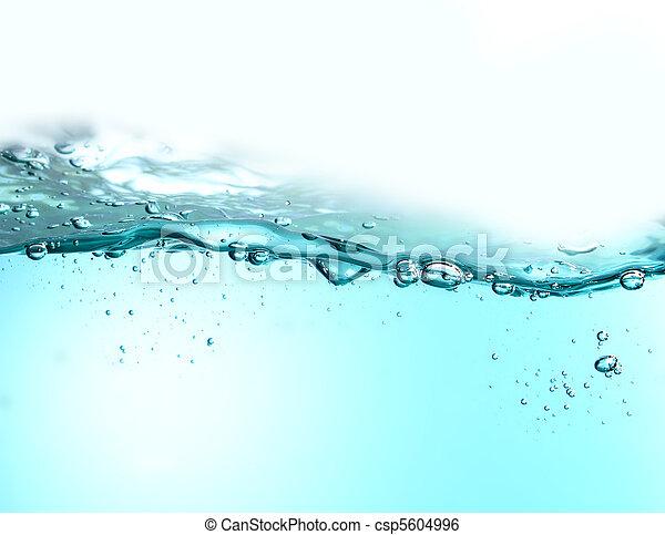 vatten, frisk, bubblar - csp5604996