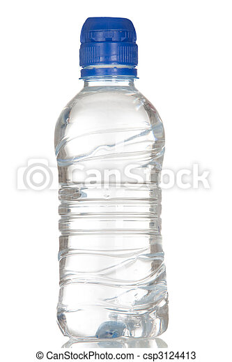 vatten, fyllda, flaska, plastisk - csp3124413