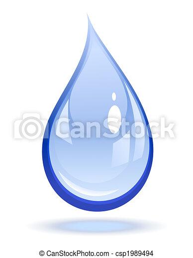 vatten gnutta - csp1989494
