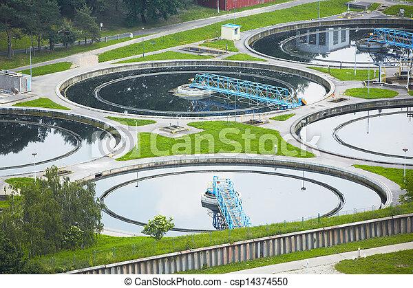 vatten placera, avfalls kur - csp14374550