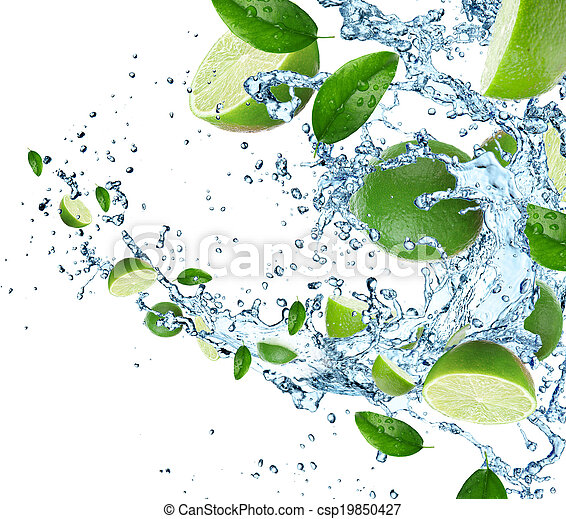 vatten, plaska, lindar - csp19850427