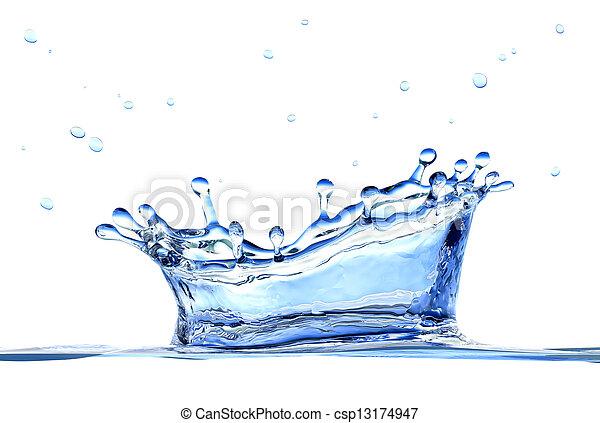 vatten, plaska - csp13174947