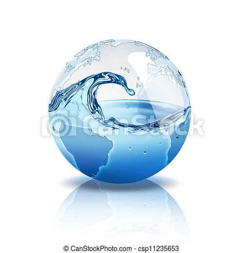 vatten, värld - csp11235653