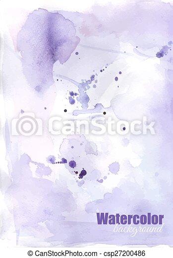 vattenfärg, bakgrund - csp27200486