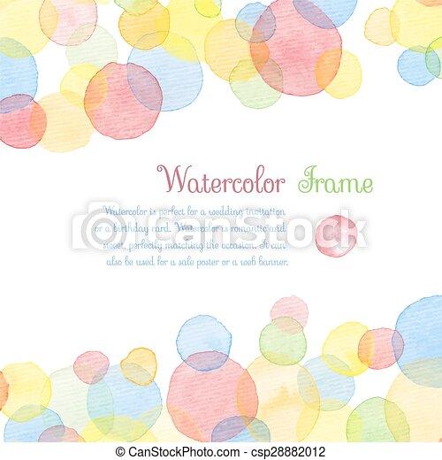 vattenfärg, banners. - csp28882012