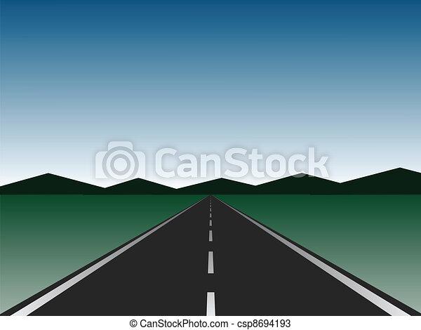 vazio, estrada - csp8694193