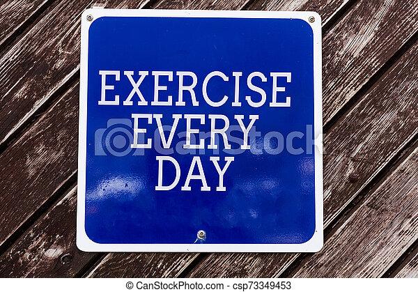 vazio, letra, escrita, saudável, cópia, significado, adquira, cada, movimento, ajustar, azul, texto, espaço, day., acima, experiência., madeira, energeticamente, tábua, exercício, corporal, ordem, conceito - csp73349453