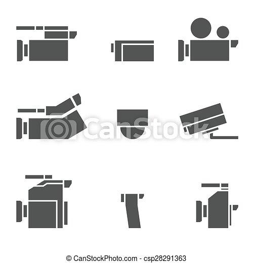vdo camera icon set - csp28291363