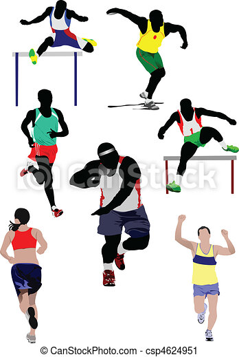 ve, athletics., jakiś, komplet, rodzaje - csp4624951