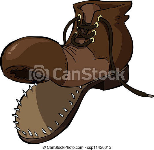 vecchia scarpa - csp11426813