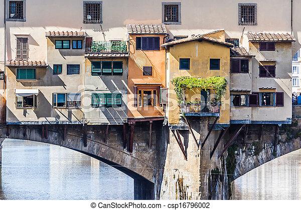 vecchio, florencia, italia, ponte - csp16796002