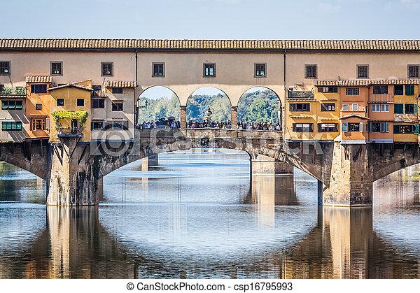 vecchio, florencia, italia, ponte - csp16795993