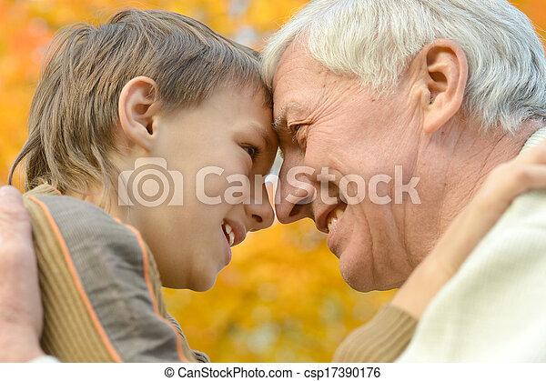 vecchio, grandson., uomo - csp17390176