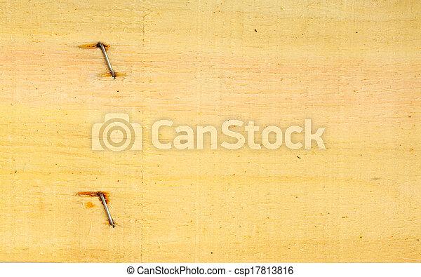 vecchio, legno, unghia, struttura, parete, legno, fondo - csp17813816