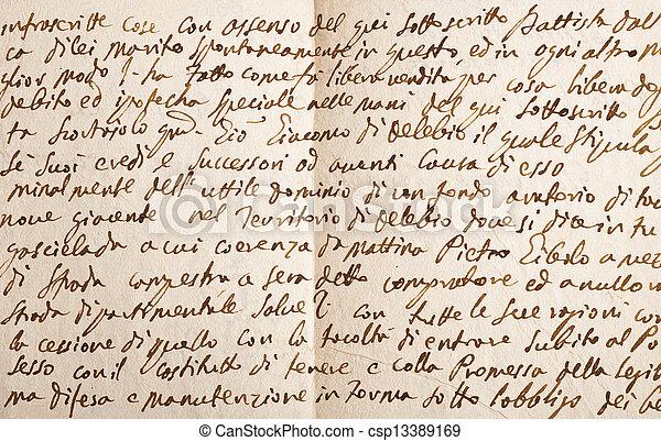 vecchio, manoscritto - csp13389169