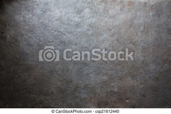 vecchio, metallo, fondo, piastra - csp21612440