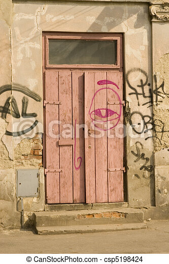 vecchio, porta - csp5198424