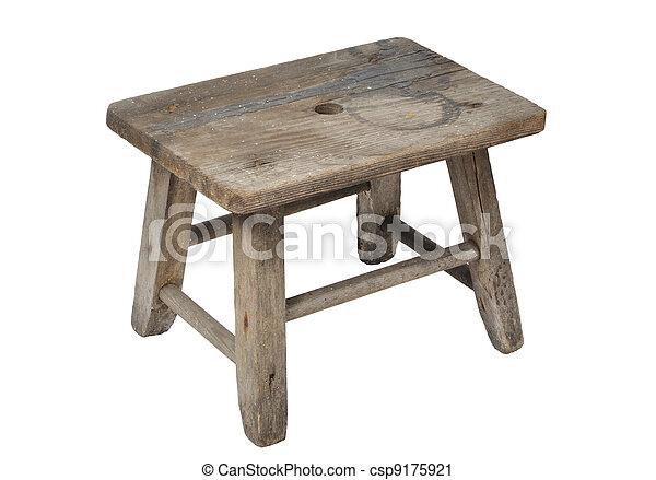 Cabinet bit sgabello tavolino con manico in metallo legno bianco