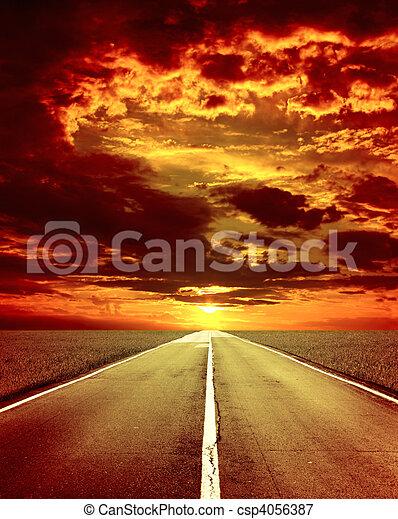 vecchio, strada - csp4056387