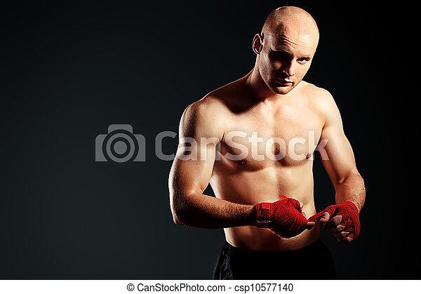 vecht, man - csp10577140
