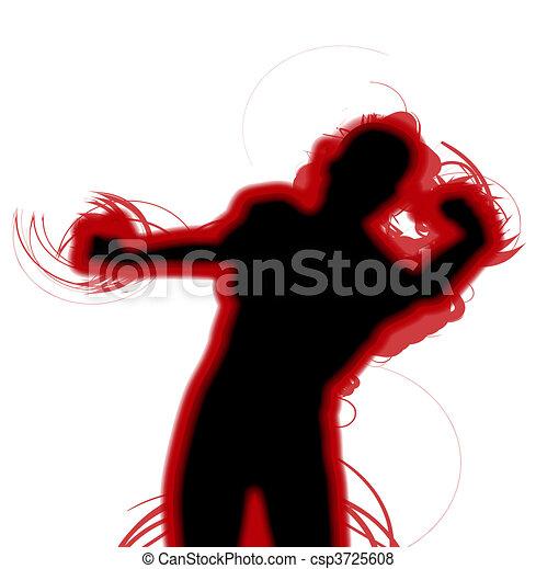 vecht, silhouette - csp3725608