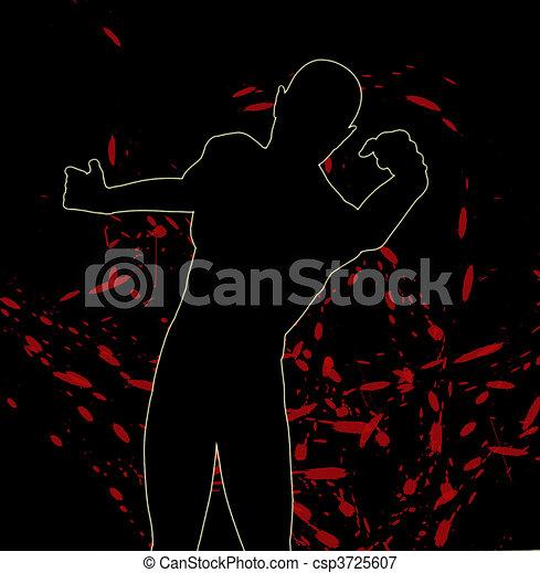 vecht, silhouette - csp3725607