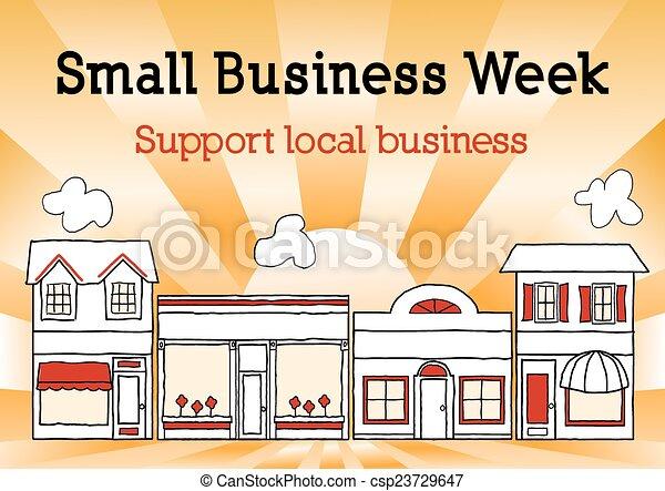vecka, affär, usa, gata, liten, huvudsaklig - csp23729647