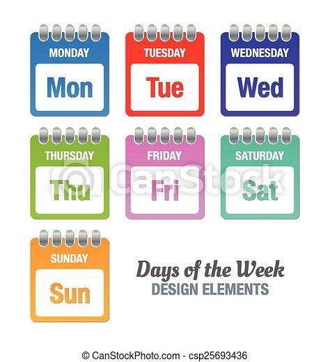 vecka, dagar - csp25693436