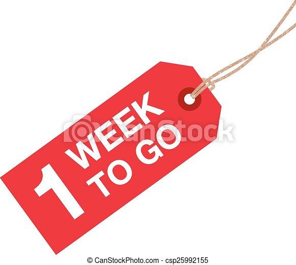 vecka, gå, en, underteckna - csp25992155