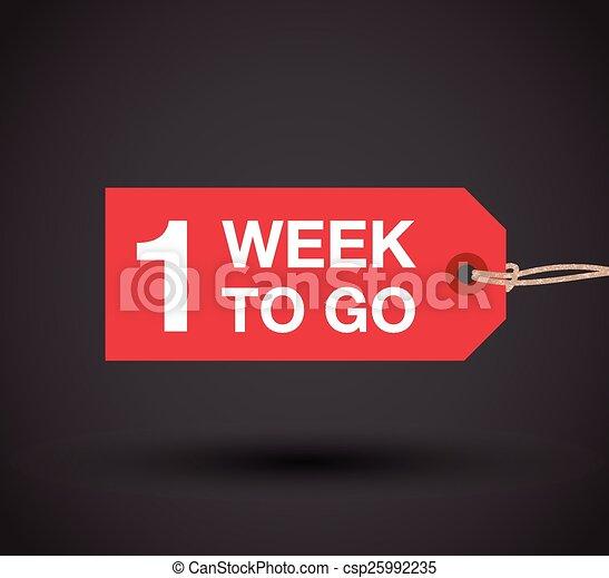 vecka, gå, en, underteckna - csp25992235