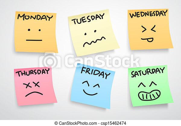 vecka, uttryck, ansikte - csp15462474