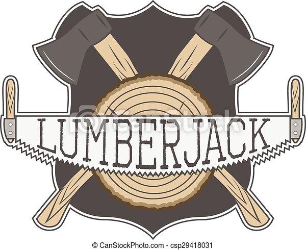 Vecror Lumberjack Label - csp29418031
