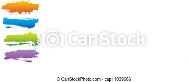 vecteur, éclaboussure, banne, illustration - csp11039666